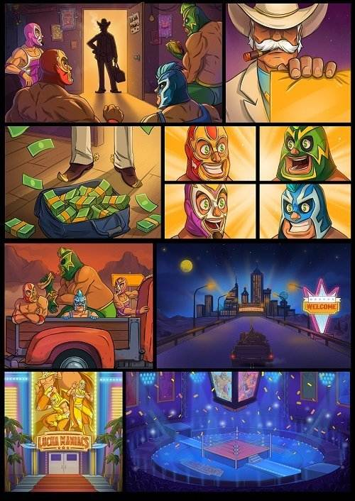 lucha maniacs tarina sarjakuva