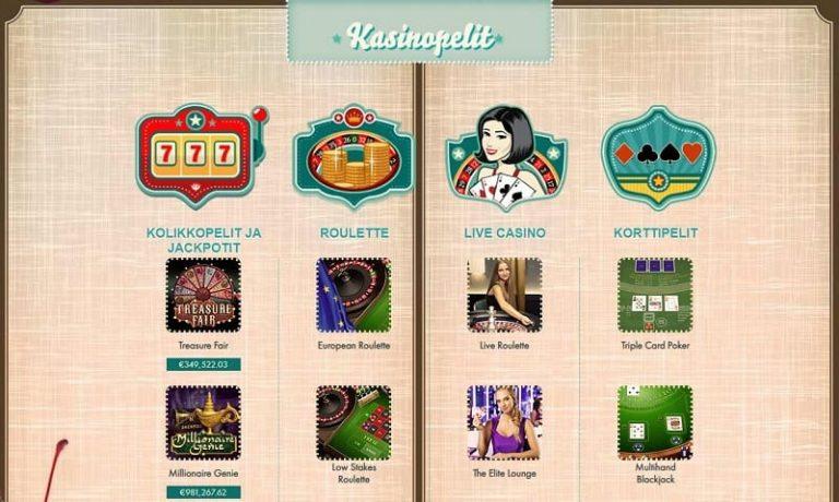 777 Casino kasinopelit