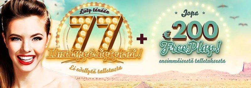 777 Casino tervetuliaistarjous