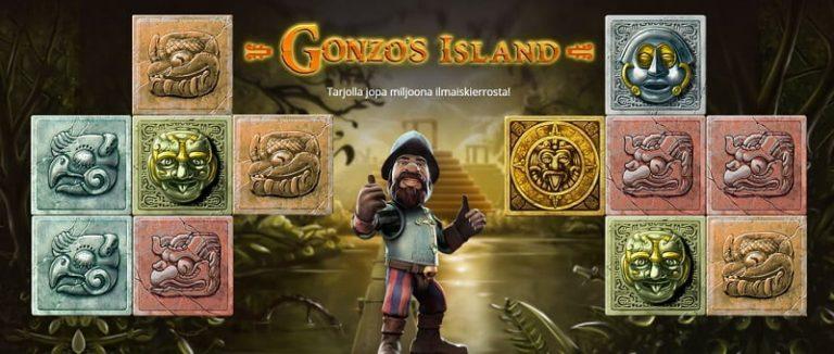 Casino Heroes Gonzo's Island -seikkailu
