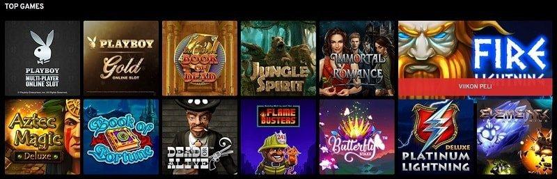 N1 Casino pelivalikoima