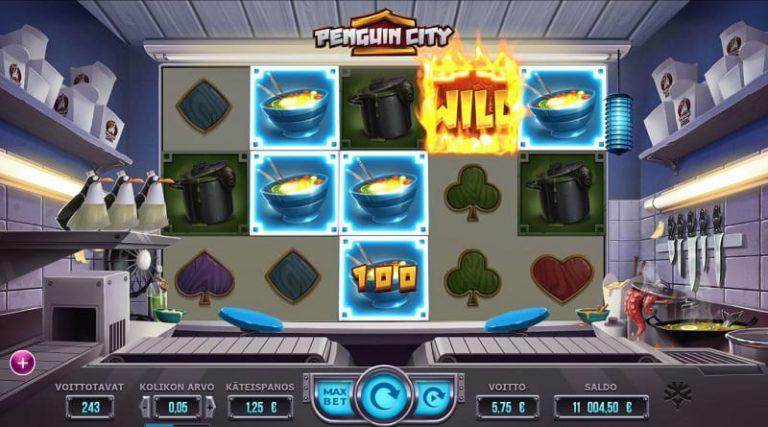 Penguin City -pelin Pingviinien pako -tila