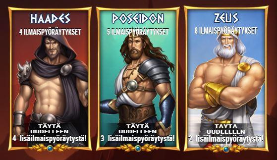 Rise of Olympus ilmaiskierrokset
