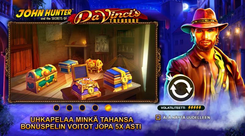 john hunter and da vincis treasure gamble toiminto