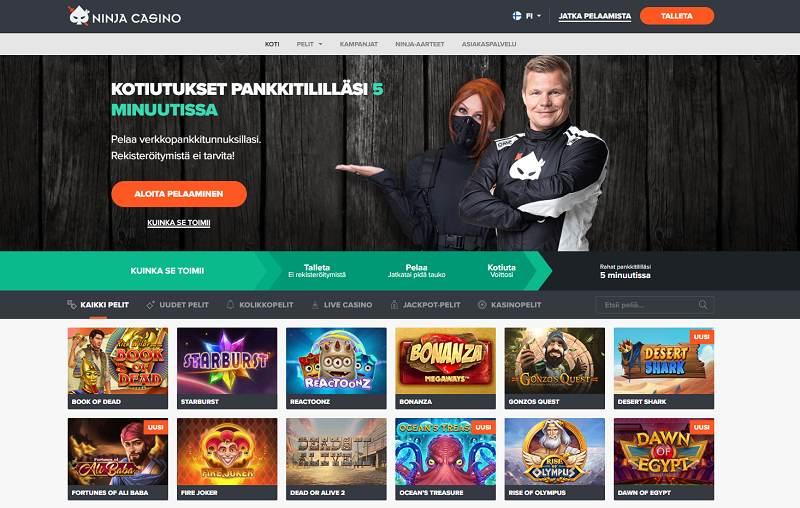 ninja casino etusivu