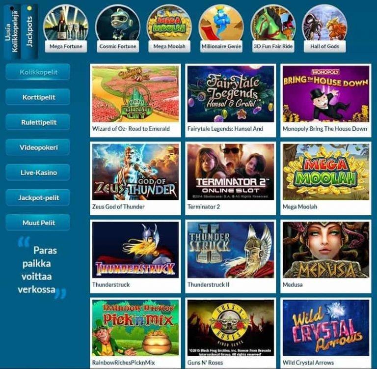 EU Casinon pelivalikoima