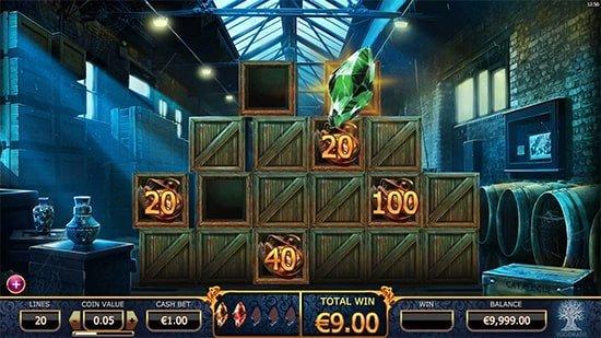 Holmes-kolikkopelin bonuspeli