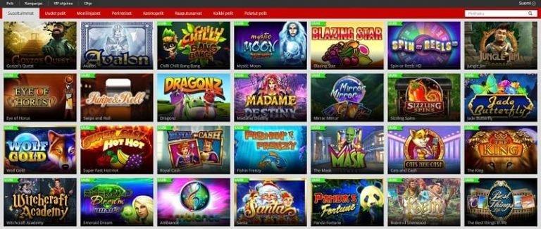 Magic Red Casino pelivalikoima