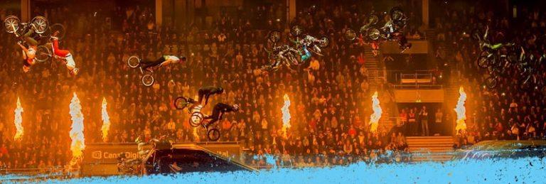 Nitro Circus -kolikkopelin kuvitusta