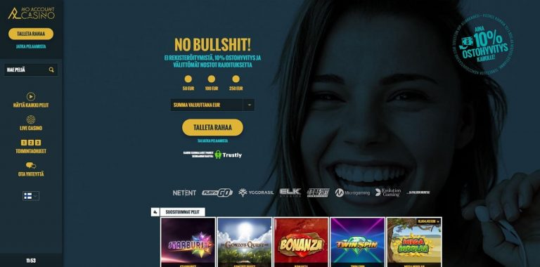 No Account Casino ilman rekisteröintiä
