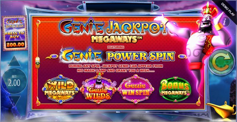 genie jackpot megaways power spin toiminto