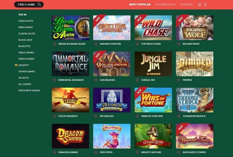 Casino Mate tarjoaa hyvän pelivalikoiman