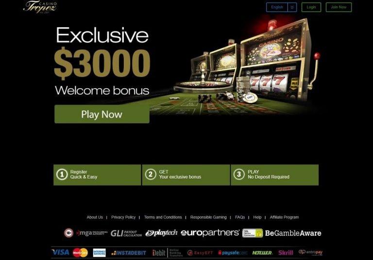 Casino Tropez tarjoaa jopa 3000€ tervetuliaisbonusta!
