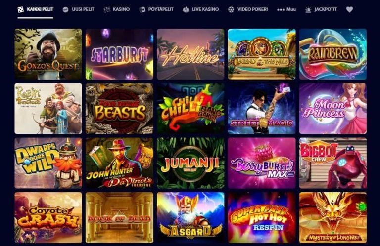 Kahuna Casinon pelivalikoima