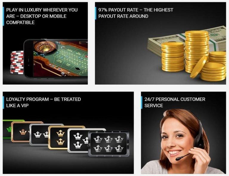 Luxury Casino tarjoaa useita etuja