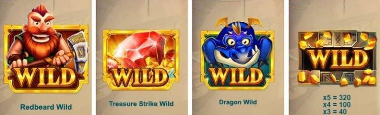 Treasure Mine -pelin Wild-merkit
