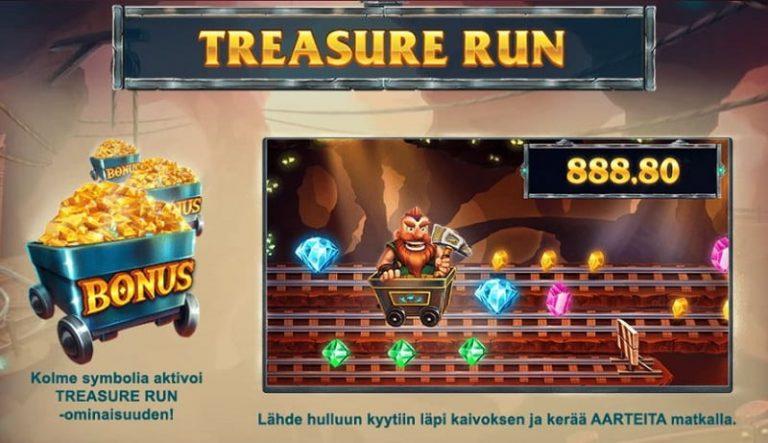 Treasure Mine -slotin Treasure Run -bonuspeli
