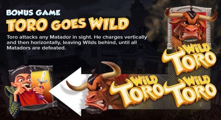 Wild Toro -slotin bonuspeli