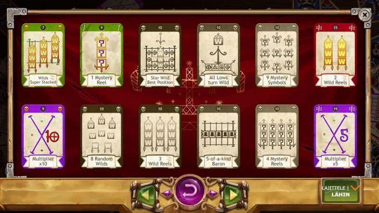 Baron Samedi -slotin korttikokoelma