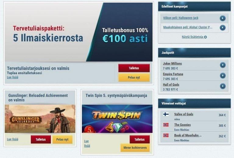 EuroSlotsin kampanjatarjontaa