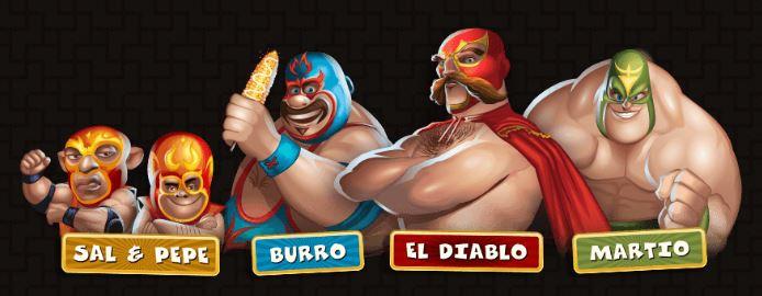 Lucha Legends hahmot