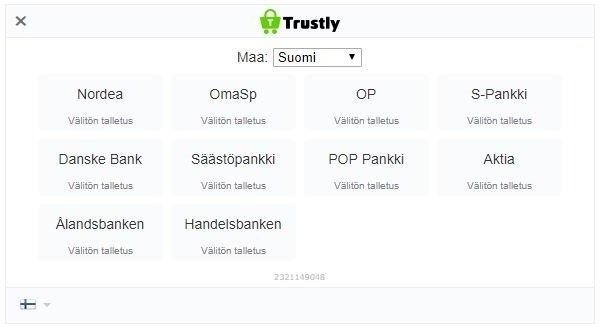 Trustly kattaa suomalaiset pankit.