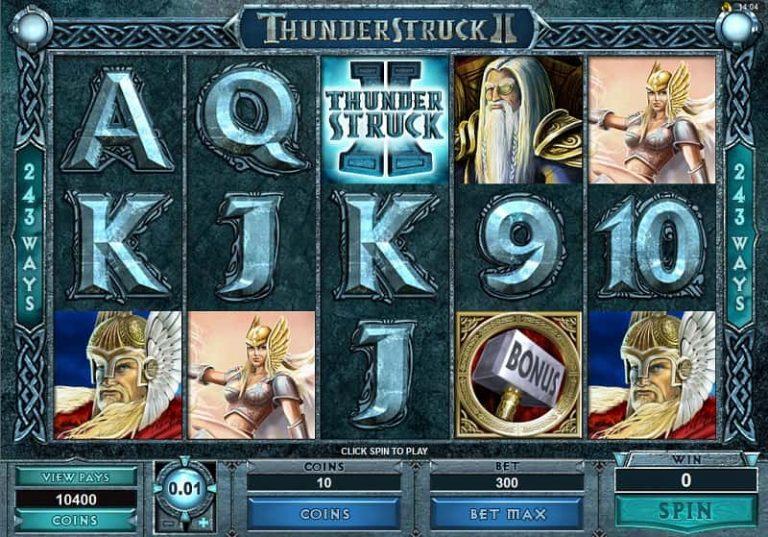 Thunderstruck II -kolikkopeli