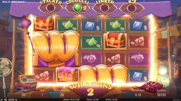 Wild Bazaar -pelin Wild Spins -toiminto