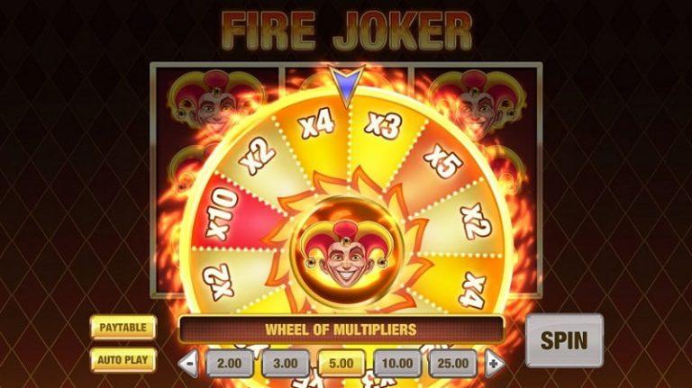 Fire Joker -pelin kerroinpyörä