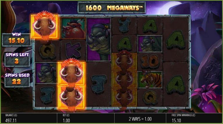Primal Megaways -slotin ilmaiskierrokset