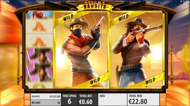 Sticky Bandits -pelin ilmaiskierrokset