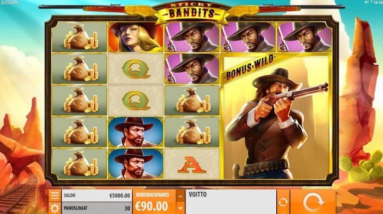 Sticky Bandits -kolikkopeli