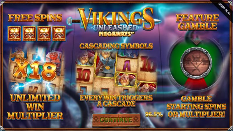 vikings unleashed megaways bonustoiminnot