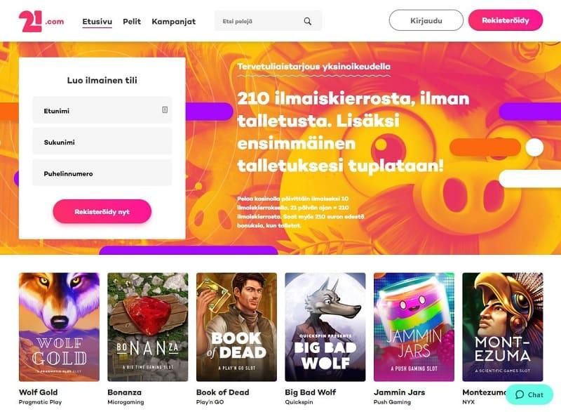 21.com nettikasino