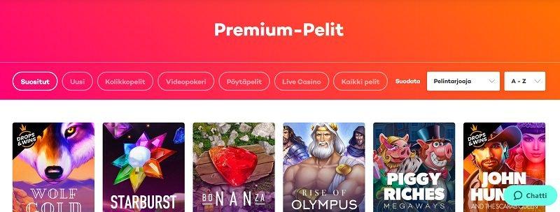 21.com pelivalikoima premium pelit kolikkopelit