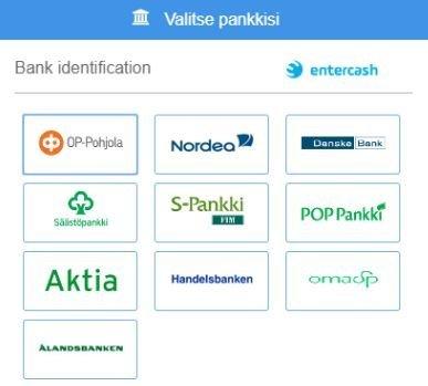 Casonic hyväksyy kaikki suomalaiset pankit