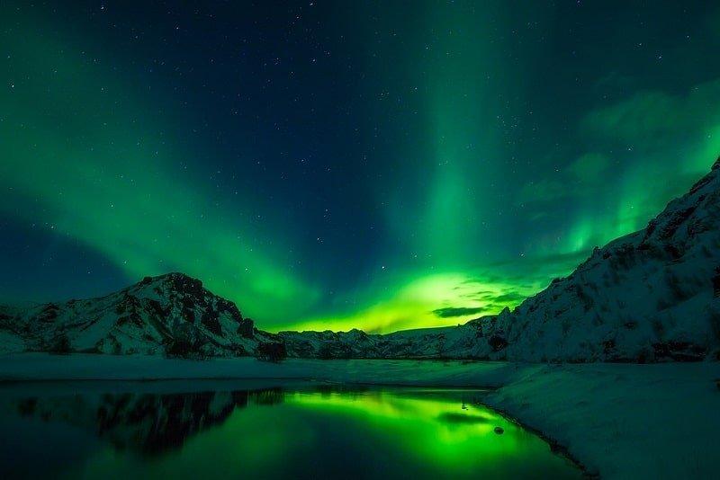 Rizkin palkintomatkalla voi nähdä Islannin upeita revontulia.