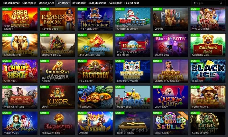 Jaak Casinon kolikkopelit