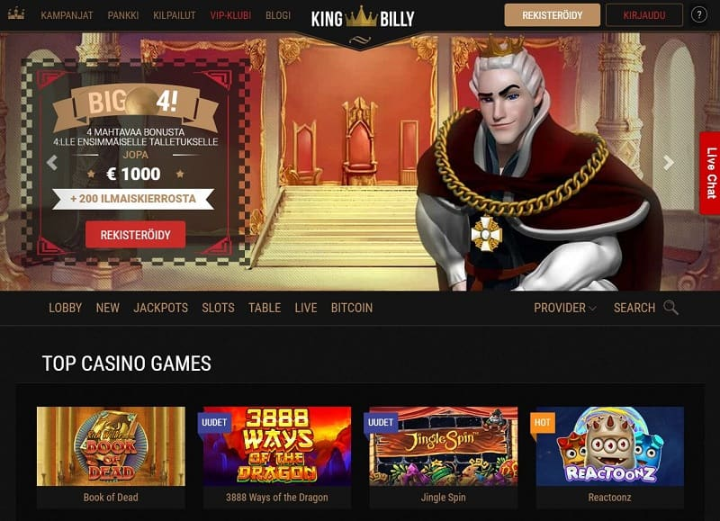 King Billy Casino aula