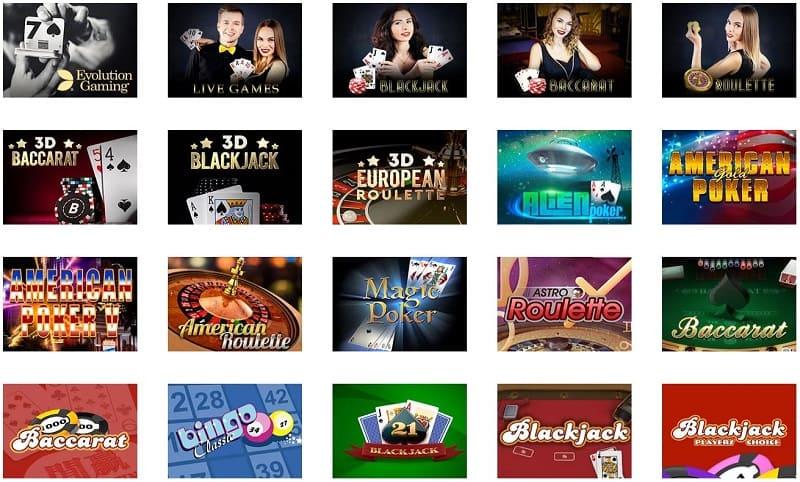 La Fiesta Casino pöytäpelit