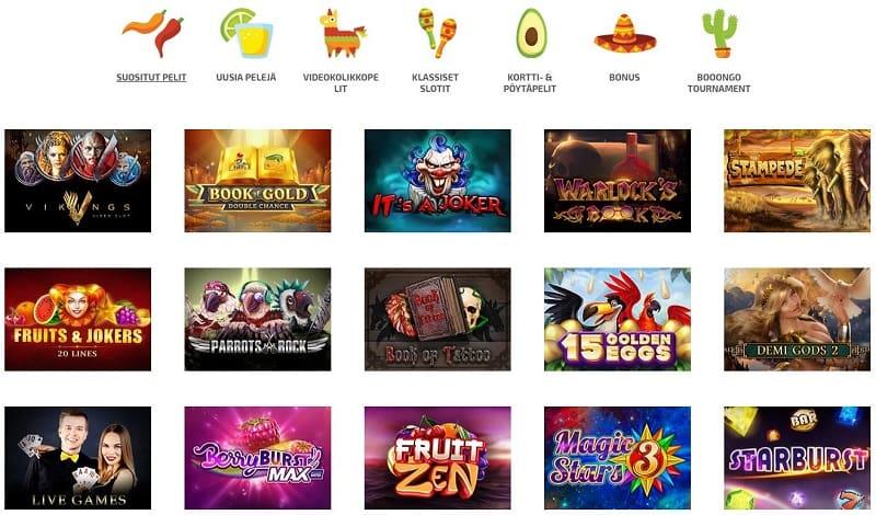 La Fiesta Casino pelivalikoima