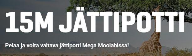 Mega Moolahin potissa on 15 miljoonaa euroa