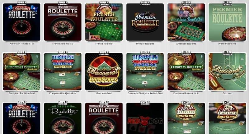 Slotty Vegas pöytäpelit