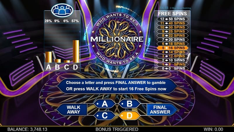 Who Wants to Be a Millionaire bonus