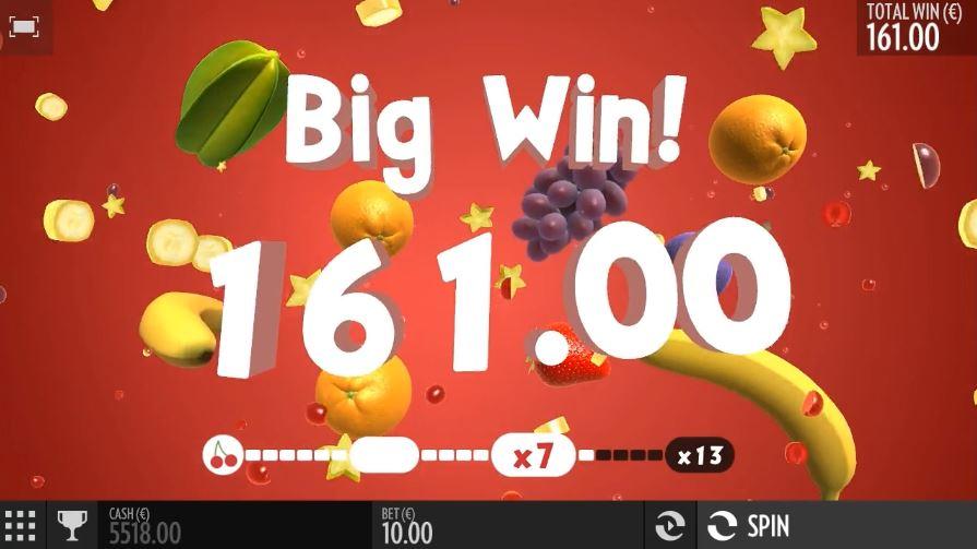 Fruit Warp iso voitto