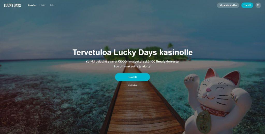Lucky Days Casinon etusivu