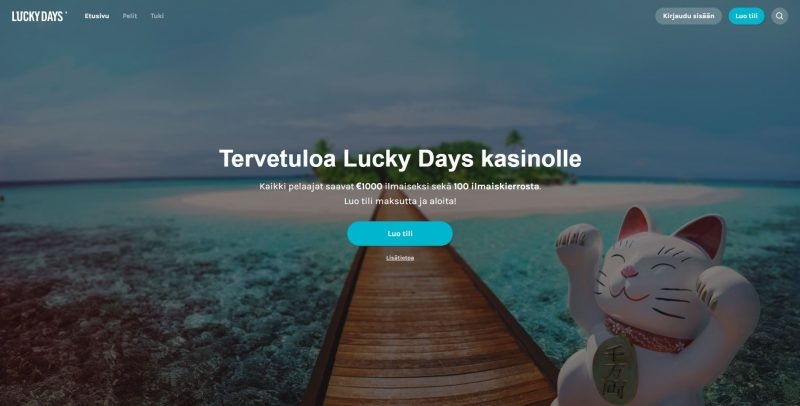 Lucky Days Casinon etusivu