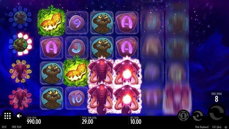 Pink Elephants slotin bonuspeli