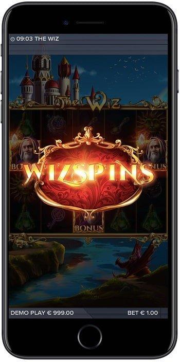 The wiz ilmaiskierrokset mobiilissa