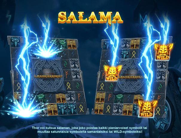 thor's lightning salama bonustoiminto